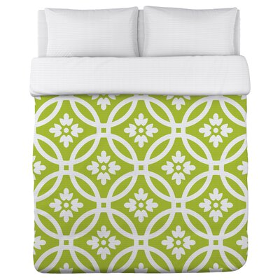 Meredith Circles Duvet Cover Size: King