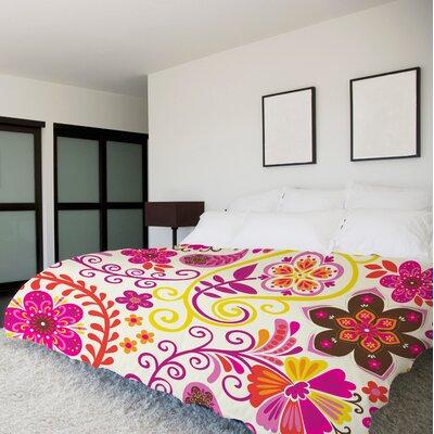 Bohemian Florals Multi Duvet Cover Size: King