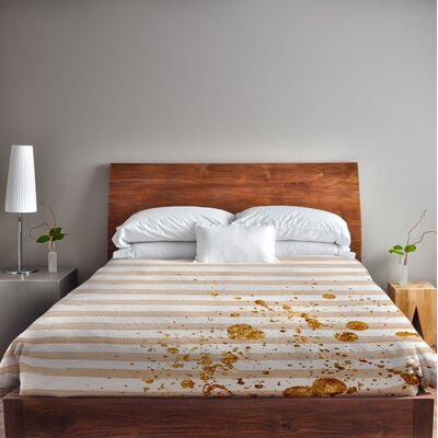 Creamsicle Fleece Duvet Cover Size: King