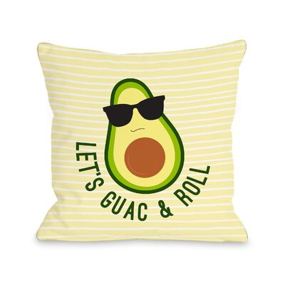Sparling Guac And Roll Throw Pillow Size: 18 x 18