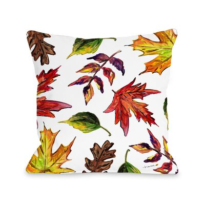 Roncy Fall Leaves Throw Pillow Size: 16 x 16