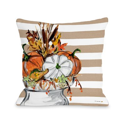 Roncy Fall Vase Throw Pillow Size: 16 x 16