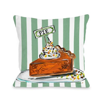 Bugg Pumpkin Pie Throw Pillow Size: 16 x 16