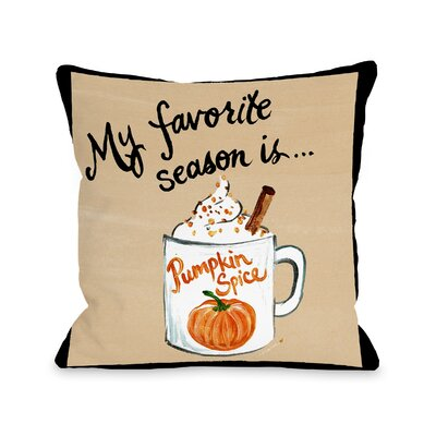 Stalter Pumpkin Spice Throw Pillow Size: 18 x 18