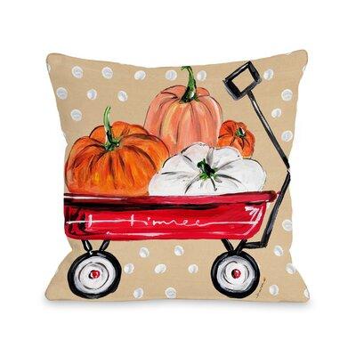 Fall Wagon Throw Pillow Size: 16 x 16