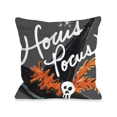 Halloween Hat Hocus Pocus Throw Pillow Size: 16 x 16