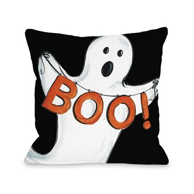Halloween Ghost Boo Throw Pillow Size: 18 x 18
