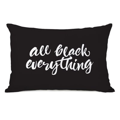 Bester All Black Everything Lumbar Pillow