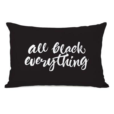 Bester All Black Everything Lumbar Pillow
