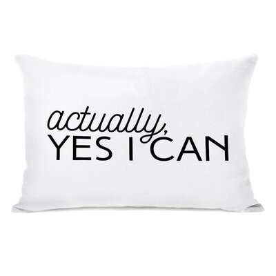 Bette Actually, Yes I Can Lumbar Pillow