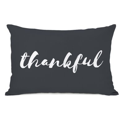 Bevilacqua Thankful Script Lumbar Pillow