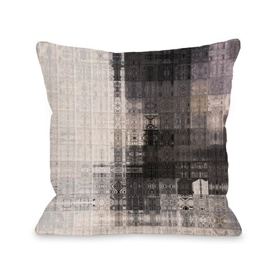 Lorna Tiled Monochrome Throw Pillow Size: 16 x 16