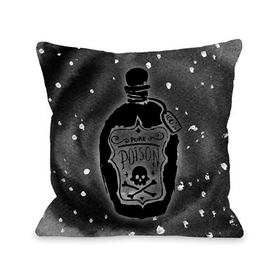 Pure Poison Hole Throw Pillow Size: 18 x 18