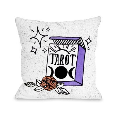 Tarot Magic Throw Pillow Size: 16 x 16