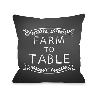 Porrima Farm to Table Throw Pillow Size: 18 x 18