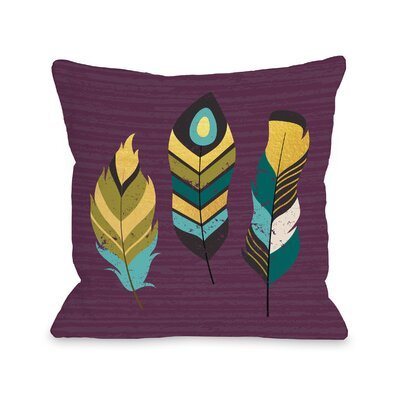 Murdoch Feathers Throw Pillow Size: 16 x 16