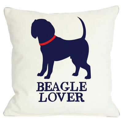 Doggy D�cor Beagle Lover Throw Pillow Size: 16 H x 16 W