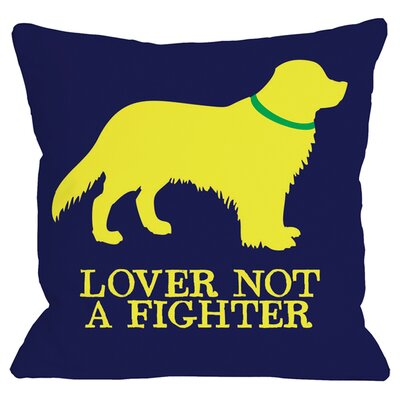 Doggy D�cor Golden Retreiver Lover Throw Pillow Size: 18 H x 18 W