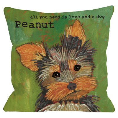 Personalized Yorkie Throw Pillow