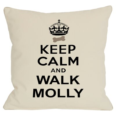 Personalized Keep Calm and Walk Throw Pillow