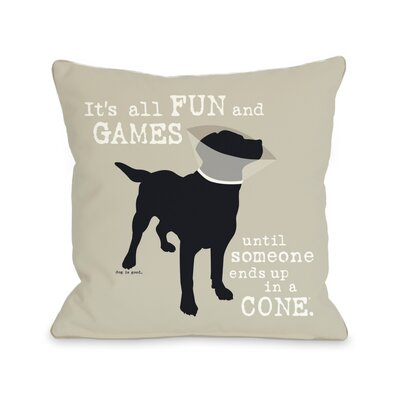 Its All Fun and Games Fleece Throw Pillow