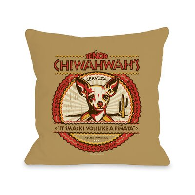 Doggy D�cor Senior Chiwahwah Throw Pillow Size: 18 H x 18 W