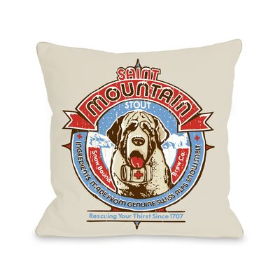 Doggy D�cor Saint Mountain Throw Pillow Size: 16 H x 16 W