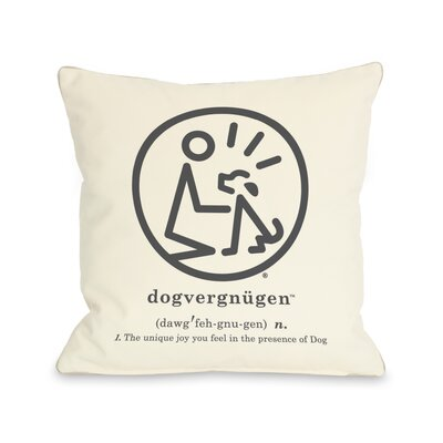 Doggy D�cor Dogvergnugen Throw Pillow Size: 16 H x 16 W