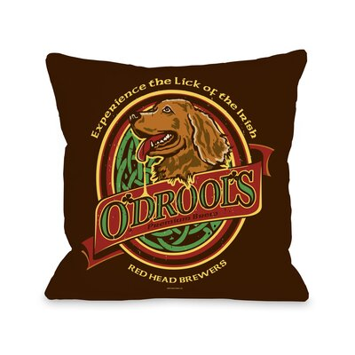 Doggy D�cor Odrools Throw Pillow Size: 18 H x 18 W