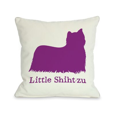 Doggy D�cor Little Shih-T-Zu Throw Pillow Size: 18 H x 18 W