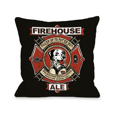 Doggy D�cor Firehouse Ale Throw Pillow Size: 18 H x 18 W