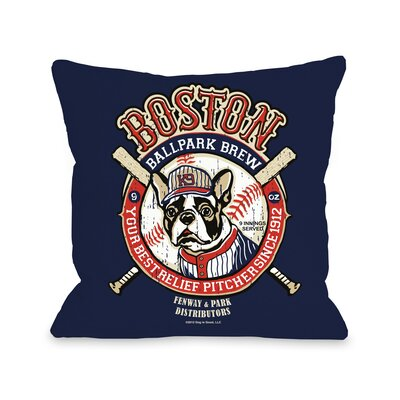 Doggy D�cor Boston Brew Throw Pillow Size: 18 H x 18 W