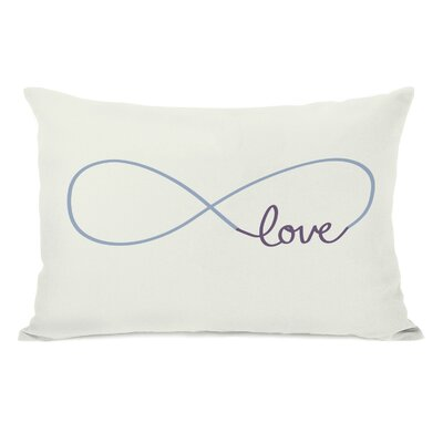 Infinite Love Lumbar Pillow Color: Ivory Grape