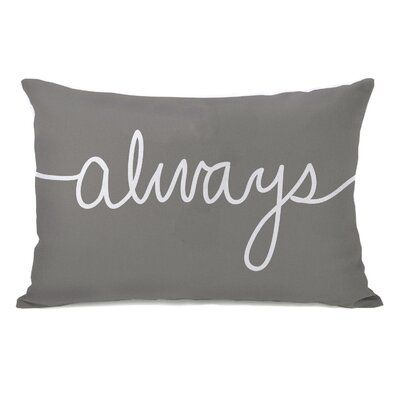 Always Mix and Match Lumbar Pillow Color: Gray / White