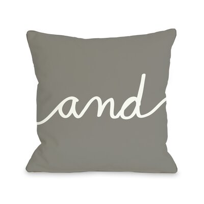 And Mix + Match Throw Pillow Color: Gray, Size: 18 x 18