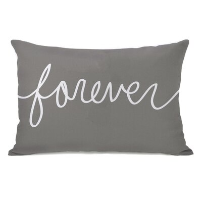 Forever Mix and Match Lumbar Pillow Color: Gray / White