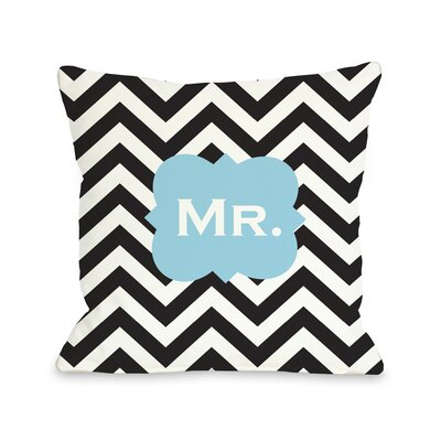 Mr Chevron  Pillow Size: 16 H x 16 W