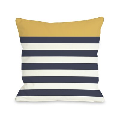 Nautical Stripes  Pillow Color: Mimosa, Size: 16 H x 16 W