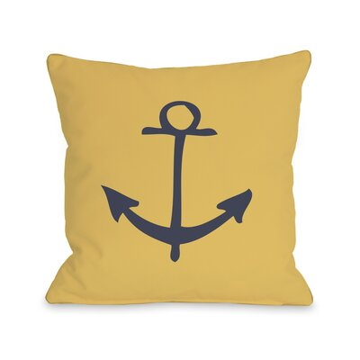 Vintage Anchor Pillow Size: 18 H x 18 W