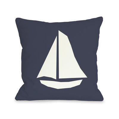 Vintage Sailboat Pillow Size: 16 H x 16 W