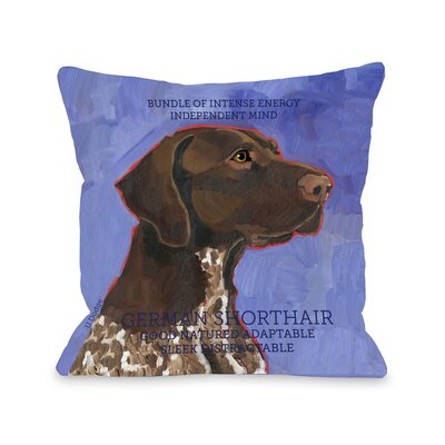 Doggy D�cor German Shorthair Throw Pillow Size: 18 H x 18 W
