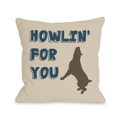 Doggy D�cor Howlin For You Dog Throw Pillow