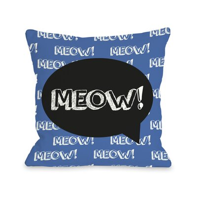 Doggy D�cor Meow Talk Bubble Throw Pillow