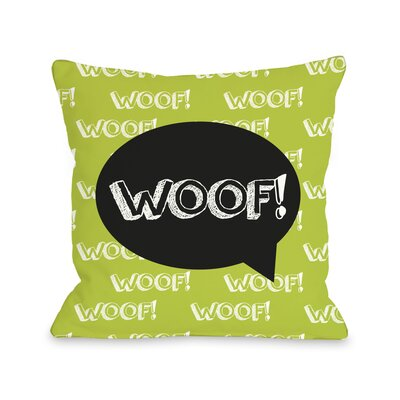 Doggy D�cor Woof Talk Bubble Throw Pillow
