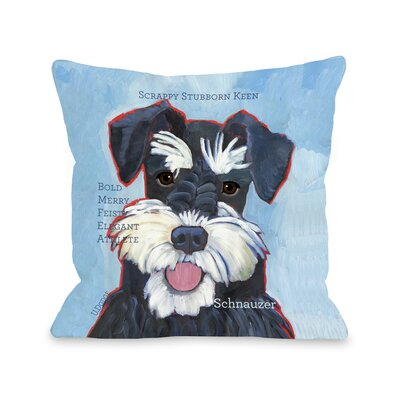 Doggy D�cor Schnauzer Throw Pillow Size: 18 H x 18 W