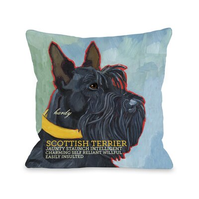 Doggy D�cor Scottish Terrier Throw Pillow Size: 16 H x 16 W