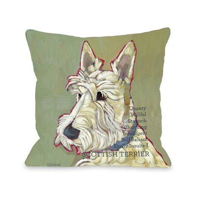 Doggy D�cor Scottish Terrier Throw Pillow Size: 20 H x 20 W