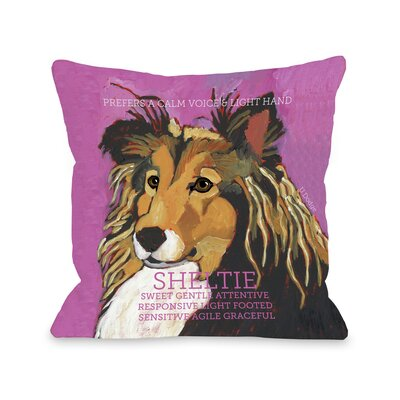 Doggy D�cor Sheltie Throw Pillow Size: 26 H x 26 W