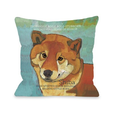 Doggy D�cor Shiba Throw Pillow Size: 18 H x 18 W