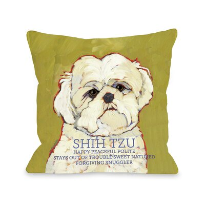 Doggy D�cor Shihtzu Throw Pillow Size: 18